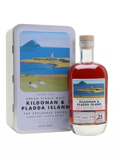 Виски Arran 21 Year Old Kildonan & Pladda Island Explorers Series Vol.3, gift box, 0.7 л