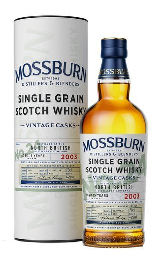 Виски Mossburn, Vintage Casks No.24 North British, in tube. 0.7 л