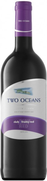 "Вино ""Two Oceans"" Rich and Fruity Red, 2015"