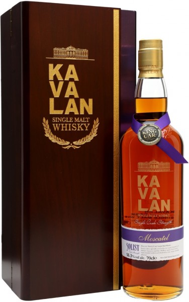 "Виски Kavalan, ""Solist"" Moscatel Sherry Cask (56,3%), gift box, 0.7 л"