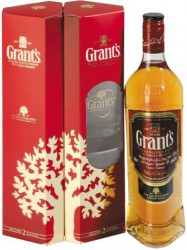 Виски Grant's, Family Reserve, gift box with 2 glasses, 0.7 л